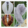 100% real shooting autumn and winter women's faux Fox fur raccoon fur scarf muffler scarf faux fur collar 85CM
