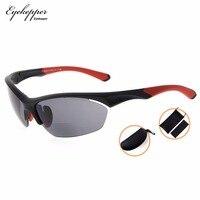 SG902Eyekepper TR90 Sports Bifocal Sunglasses Baseball Running Fishing Driving Golf Softball Hiking Half Rimless Reading Glasses