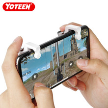 دکمه تلفن همراه Yoteen PUBG Trigger Physical Joystick Fire Button Aim Key L1 R1 Trigger 1 Pair for Android iOS Shooting Game