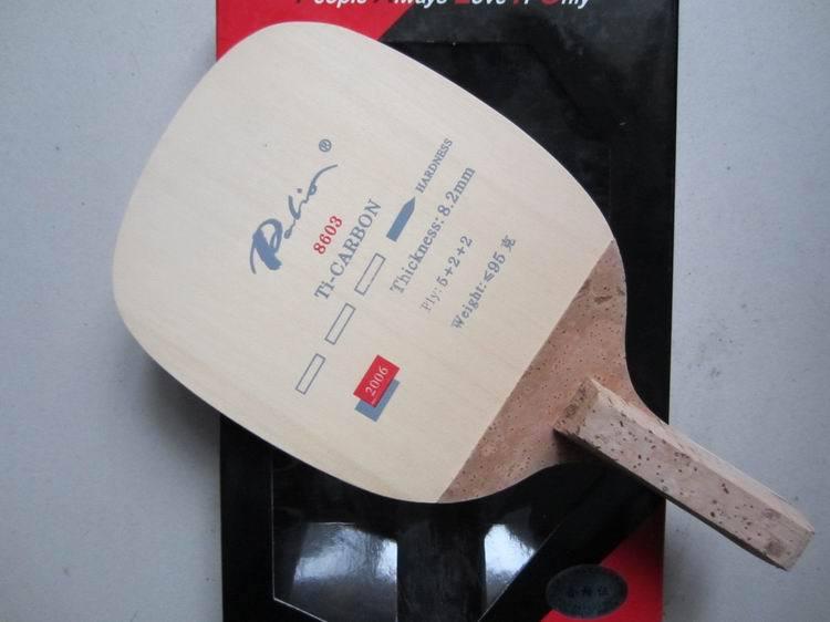 Bezmaksas piegāde Palio 8603 titāna oglekļa japāņu taisnā roktura galda tenisa naži galda tenisa raketes rakešu sporta pingpo