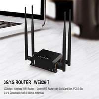 Cioswi WE826 T 3G 4G Modem Router 2.4G Wi Fi Repeater 4*5dBi External Antenna Wifi With Sim Card And USB Slot