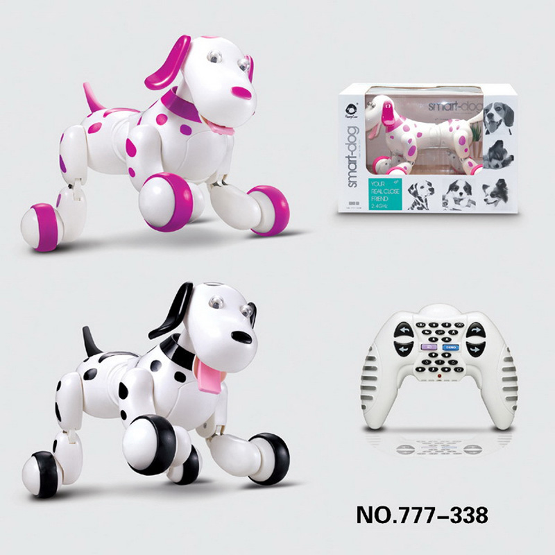 Children Cute RC Smart Dog Robot 2.4G Remote Control Electric Pet Dancing Dogs Light Walk Multi-Function Toys intelligent wireless remote control robot dog kids dancing walking dog