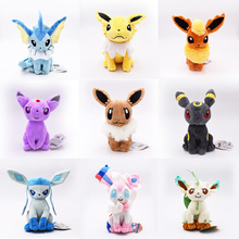 9 Styles Sitting Eevee Umbreon Flareon Vaporeon Glaceon Jolteon Espeon Leafeon Sylveon Animal Stuffed Plush Quality Cartoon Toys 9 styles 20 30 cm plush hot toys mimikyu cosplay sylveon umbreon eevee espeon vaporeon flareon leafeon stuffed animal soft dolls