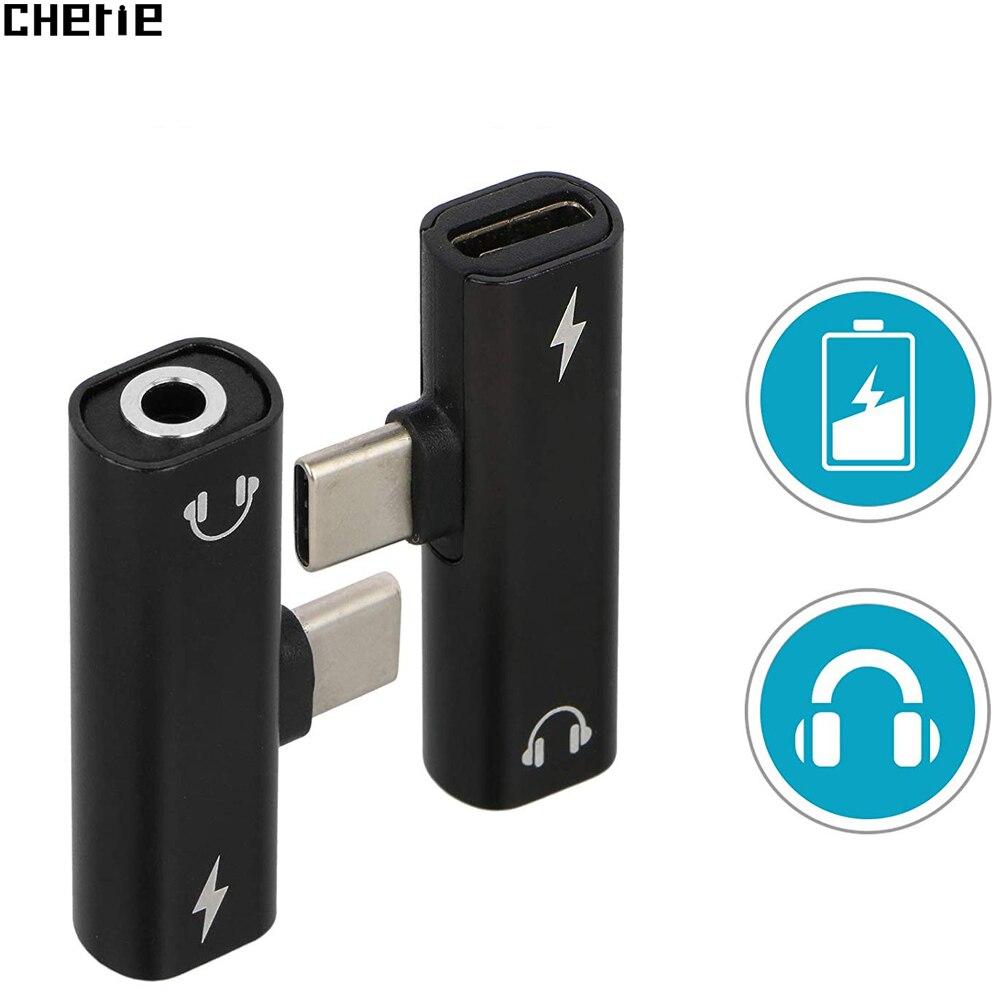 Cherie Carregador USB Type C 3.5mm Jack Audio Headphone Adapter For Samsung galaxy s10 s10+ Xiaomi mi 9 USBC Adaptateur Charging