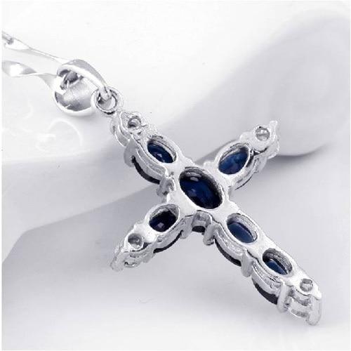 Collier Collares Qi Xuan_Dark подвеска с синим камнем Necklaces_Real necklace_качество guaranteed_производитель прямые продажи