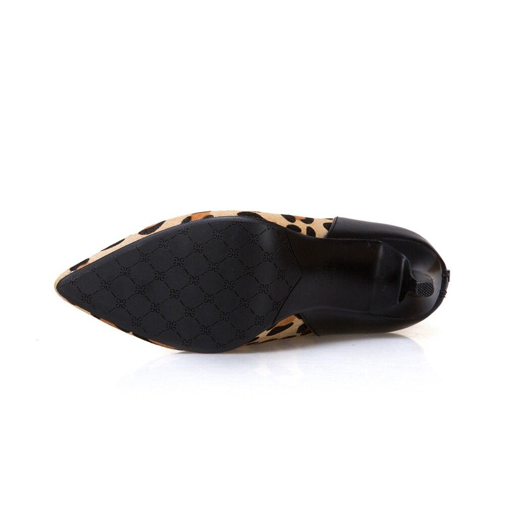 33 43 nero alti 2018 formato scarpe tacchi grande stivali partito in vera donne caviglia leopardo di Doratasia donna capelli marca pelle dei HRndAO1