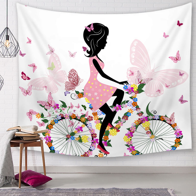 Butterfly Girl Style Tapestry Home Decor Celestial Indian