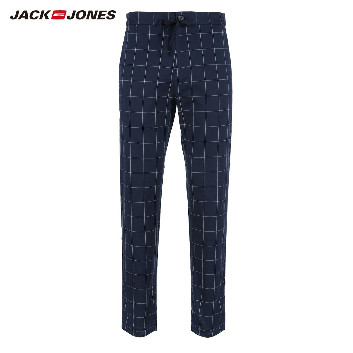 Hombres Elástico 218314516 Lycra Hombre Ropa Slim Traje Marca Pantalones Night Ocio Jackjones Moda Comprobar Negocios Fit Sky De FBdCnq