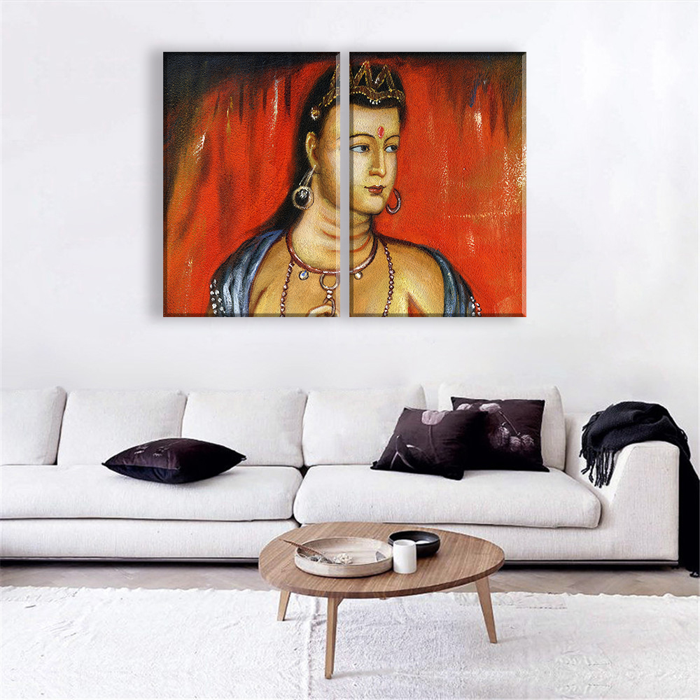 ▽Character Canvas Paintings Frameless Art Oil Painting Sacred ...