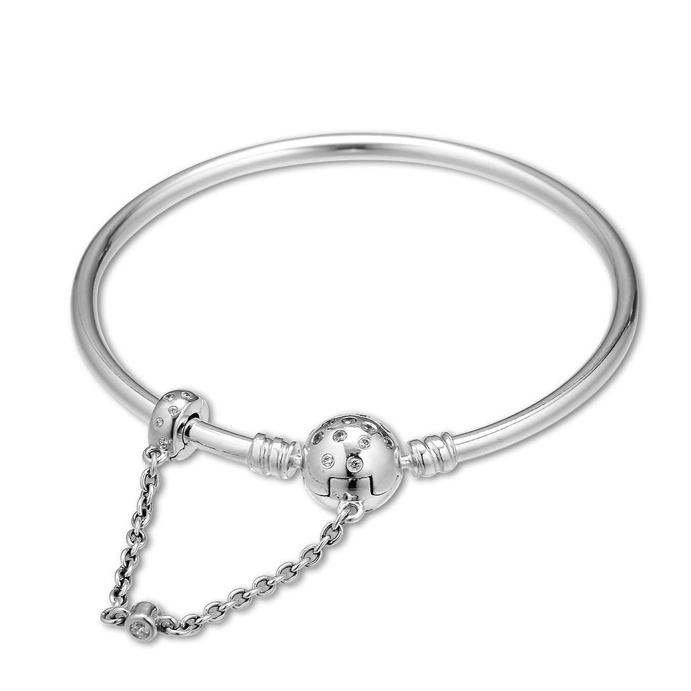 True Uniqueness Limited Edition Bangle Bracelet Fits For Original Beads & Charms Silver Woman DIY Jewelry Making