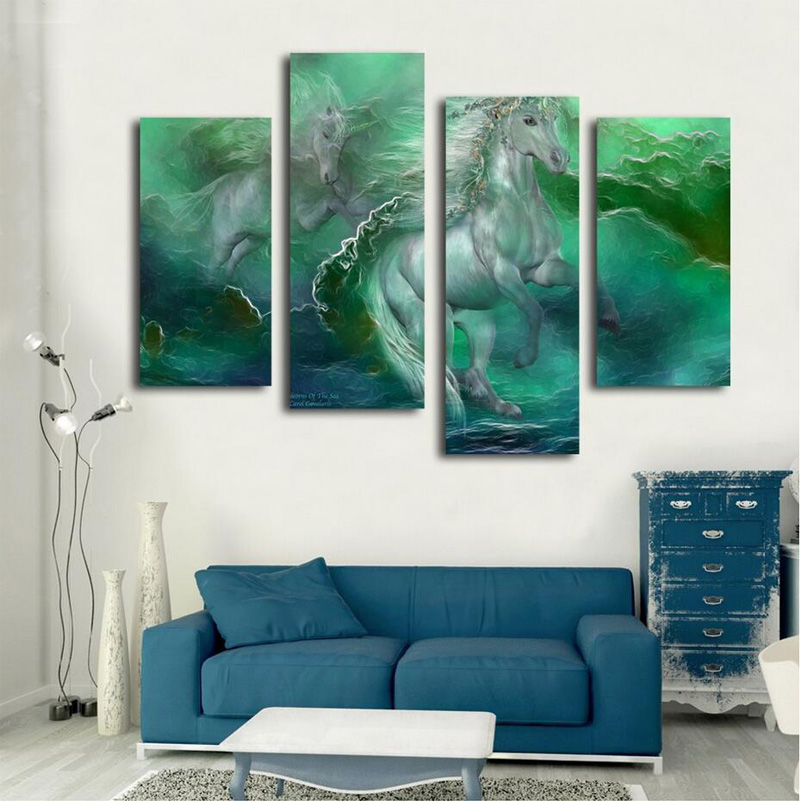 online get cheap abstract white horses oil painting -aliexpress, Hause ideen