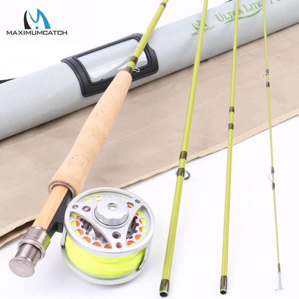 Maximumcatch 1 3 wt 6 7 6 Super Light Carbon Fly Fishing Rod Aluminum Reel Line