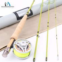 "Maximumcatch 1-3 wt 6′-7'6""Super Light Carbon Fly Fishing Rod & Aluminum Reel &  Line Combo"
