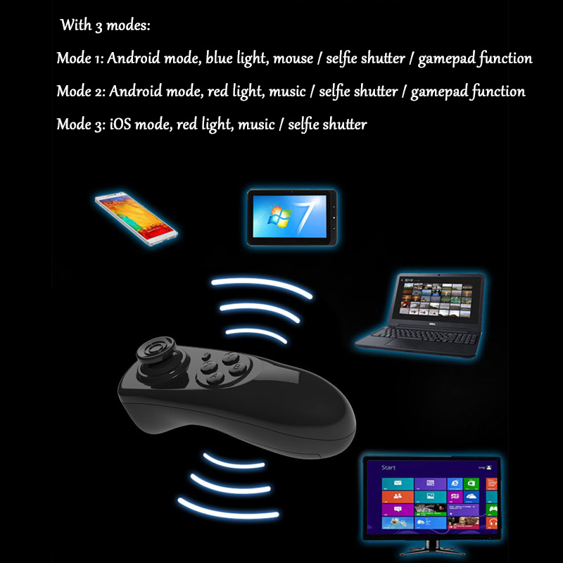 Bluetooth Gamepad VR Controller iOS Android phone Joystick Selfie Shutter Remote Control for Phone PC TV box Smart TV 16
