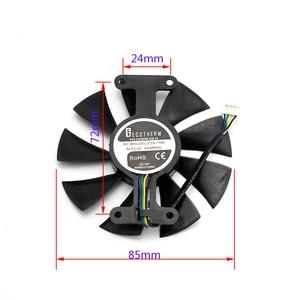 Image 4 - Mới 85mm 4Pin Quạt Tản Nhiệt Thay Thế Cho card màn hình ZOTAC GTX1060 6 GTX1050 Quạt GTX1050Ti GTX 1060 Thẻ Làm Mát quạt