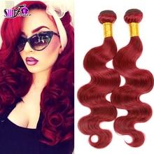 Hot sale cheap wine red malaysian virgin hair weaves body wave hair bundles mixed length 7A 2pcs/lot #99J body wave hair weave