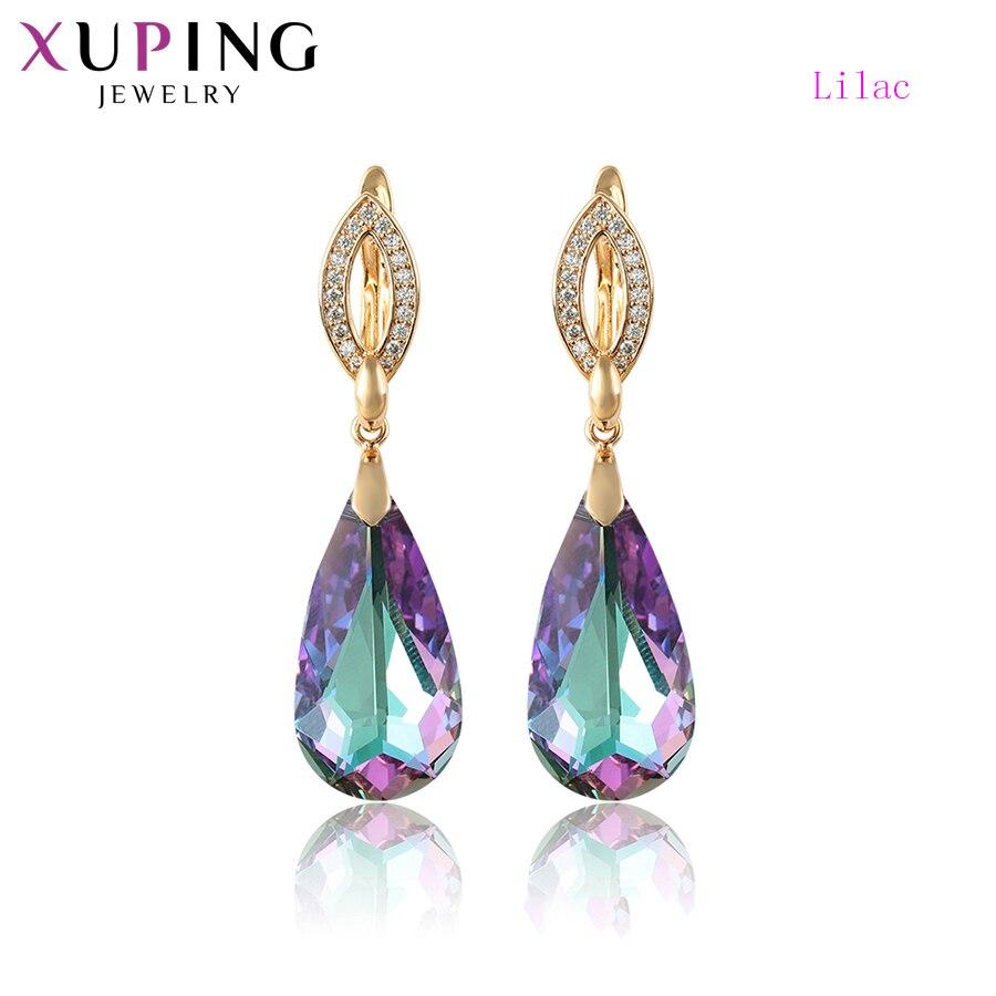 Xuping boucles d'oreilles pour femmes cristaux de Swarovski Style européen luxe exquis bijoux famille fête cadeau S173.4-96763