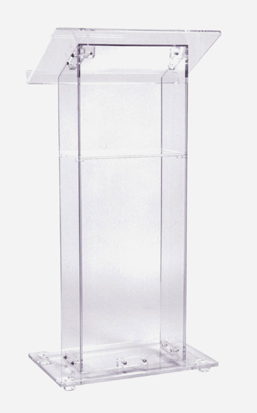 Free Shipping Transparent Knockdown Acrylic Lectern Hot Sale Customized Logo Design Acrylic Lectern Acrylic Table Top Lectern hot sale c shaped waterfall acrylic occasional side table
