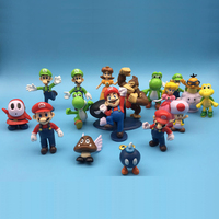 Super Mario Bros Birthday Present Game Of Action Figures Kids Boys Toys For Children Figurines Model