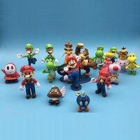 Super mario bros cadeau d'anniversaire Jeu de figurines enfants garçons jouets pour enfants figurines modèle oyuncak