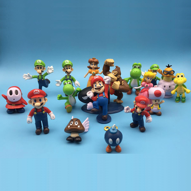 super mario bros birthday present Game of action figures kids boys toys for children figurines model oyuncak ...