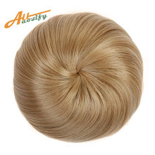 Allaosify Curly Hair Chignon Clip In Hair Bun Donut Roller Hairpieces Synthetic High Temperature Fiber(China)