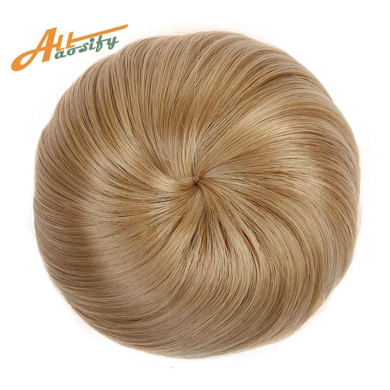Clip de moño de pelo rizado Allaosify en moño de pelo Donut postizos de rodillo sintético de alta temperatura accesorios de moño para el cabello