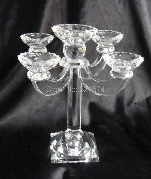 Tisch Kristall Kerzenhalter 5 Arme Kerzenleuchter Hochzeit