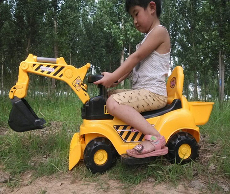 Sliding toy car non elect Can sit An excavator Engineering vehicle Simulation vehicle Christmas gifts Play