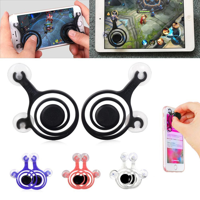 2pcs/Set Smartphone Mini Games Joysticks Zero Any Touch Screen Joystick For Phone tablet Arcade Games NEW Twin Pack