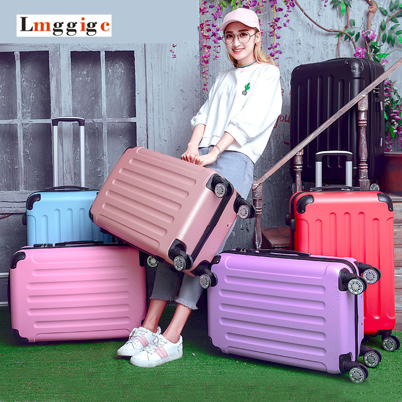 2022inch High quality Trolley suitcase luggage traveller case box Pull Rod trunk rolling spinner wheels ABS+PC cabin bag
