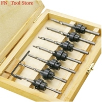 7pcs 5 6 7 8 9 10 12 Woodworking Screw Drill Heavy Drill Woodworking Drill Bit