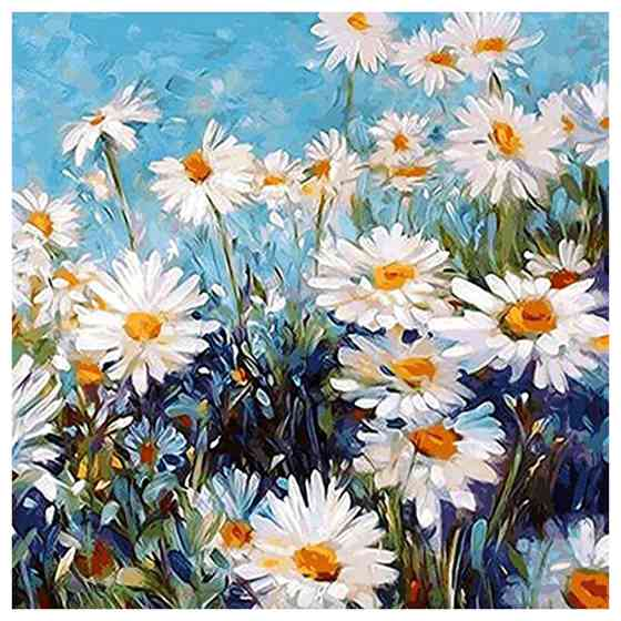 Vivid Daisy Flowers DIY Oil Painting Coloring Pictures By Numbers Kit For Adult Kids Easy Painting Supply Arts Crafts Set все цены