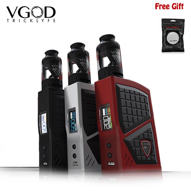 Nuovo Arrivo Vgod Pro 200 Box Mod Starter Kit Con VGOD SERBATOIO AUSILIARIO 4 ml Regolabile Vape Mod Dual 18650 Batteria vape Vaporizzatore 2018