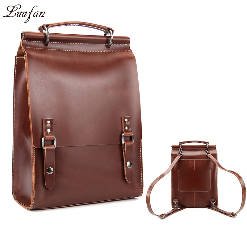 Glossy Genuine Leather Backpacks A4 Fashion Women Real Rucksack Cowhide Ipad Tote Bag School Handbag In Bags From Luggage On