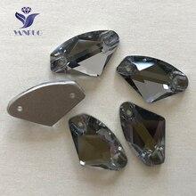 YANRUO – pierres à coudre en diamant noir, toutes tailles, à dos plat, cristal galaxy, Strass à coudre sur les Strass, #3256
