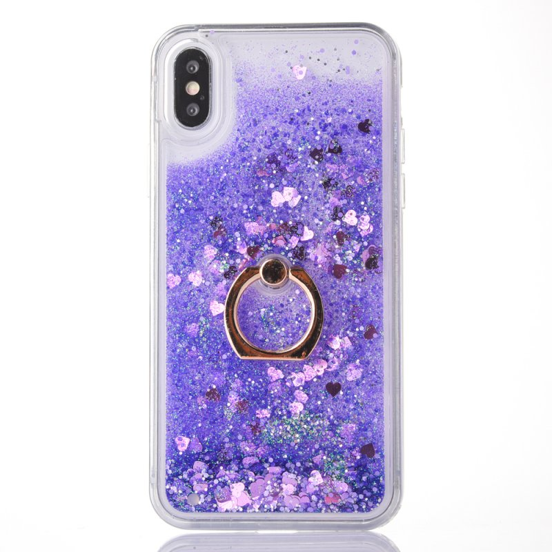 Cellphones & Telecommunications Half-wrapped Case Quicksand Ring Stand Phone Case For Apple Iphone X 10 Fundas Glitter Heart Stars Dynamic Bling Liquid Sand Clear Cover Coque