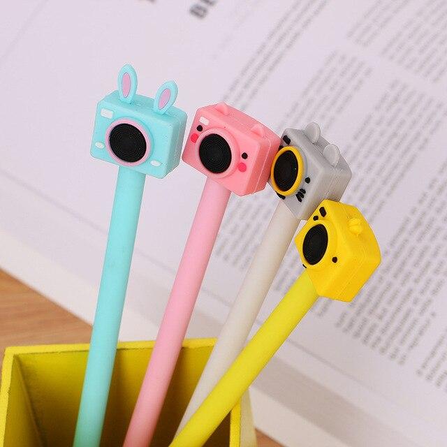 40 Pcs Camera Gel Creatieve Student Briefpapier Leuke Inkt Pen Zwart Kantoor Factory Outlet