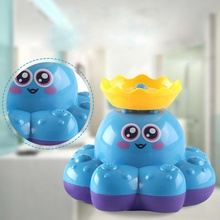 Baby Kid Bath Water Octopus Fountain Electric Paddle Toy Educational  Toddler Boy Toys for Children