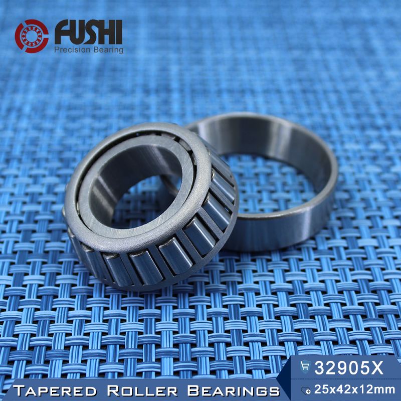 32905 X Bearing 25*42*12 mm ( 1 PC ) Tapered Roller Bearings 32905X 2007905E Bearing na4913 bearing 65 90 25 mm 1 pc solid collar needle roller bearings with inner ring 4524913 4544913 a bearing