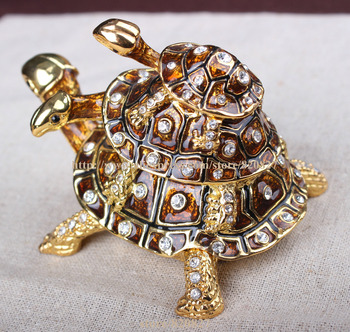 цена на Turtle Bejeweled Collectible Trinket Jewelry Box Turtle Collectible Trinket Collectable Turtle Enamel Keepsake Trinket Box