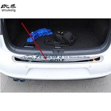 Для Volkswagen Golf 6 Mk6 Гольф 7 MK7 Нержавеющаясталь сзади задний багажник порог скребок защиты педаль