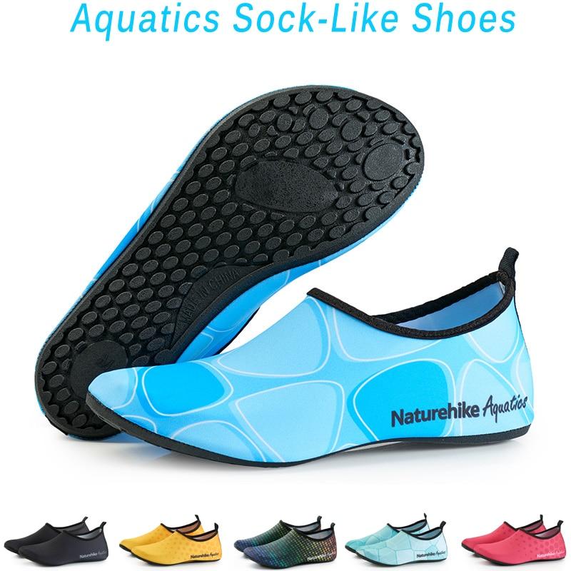 Naturehike/Новая летняя Водонепроницаемая спортивная обувь, быстросохнущие носки для занятий аква-йогой, нескользящие носки, пляжная обувь для ...