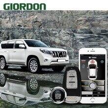 Prado 2014 car accessories Keyless Entry Comfort System PKE Phone APP Remote Start Car Engine Alarm Push  913