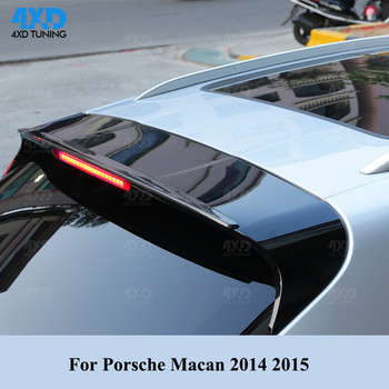 Tylny spojler z włókna węglowego dla Porsche Macan tylny bagażnik dachowy zderzak Spoiler skrzydło 2014 2015