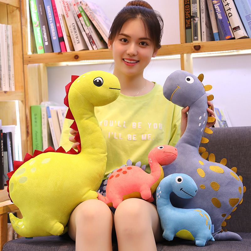 Hot New 1pc 30cm-60cm New Cute Dinosaur Plush Toys Cartoon Stuffed Animal Toy Dolls For Kids Children Boys Birthday Gift