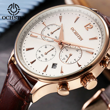 Luxury Brand OCHSTIN Watches Men Fashion Casual Men's Leather Waterproof Quartz Watch Male Wristwatch Relogio Masculino Man