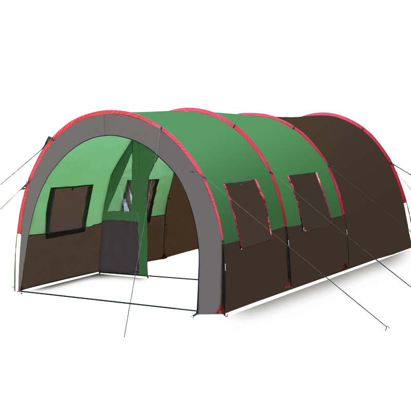 2018 new Large tent outdoor 5-8 persons Construction throwing pop up windproof waterproof beach camping tent large space tents outdoor double layer 10 14 persons camping holiday arbor tent sun canopy canopy tent
