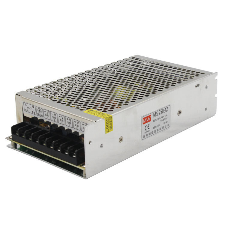 Switching Mode Power Supply MS-250W-12V 20.8A Industrial Control AC Change DC Direct Output LED Camera