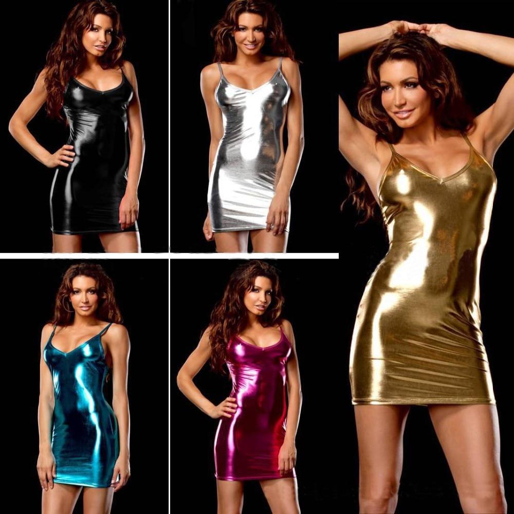 Új 9 színes szexi fehérnemű meleg nők utánzat bőr szoknya teddy Club szexi ruha erotikus fehérnemű szexi vékony fehérnemű ruha